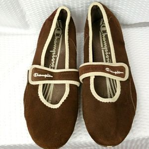 Champion leather slip on shoes size 9.5in
